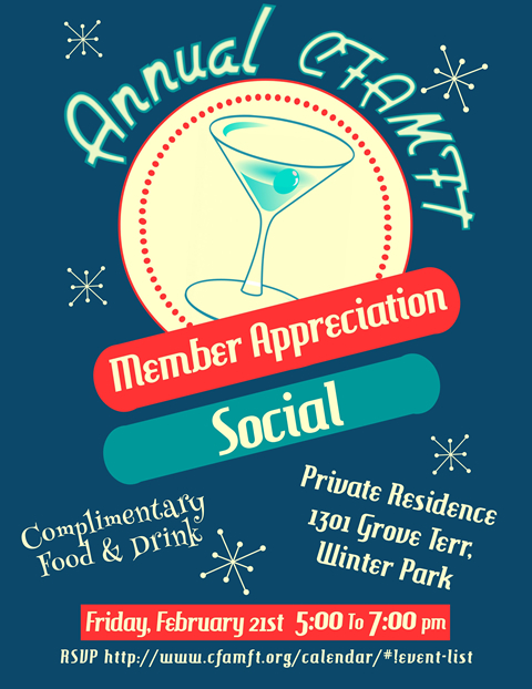 Details on the CFAMFT 2020 Member Appreciation Social